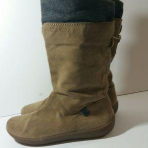 Camper Alicante Tan Gray Suede Boots